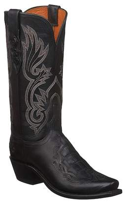 Lucchese Beatrice Genuine Caiman & Leather Cowboy Boot