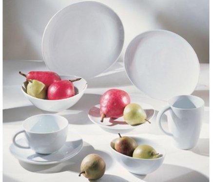 Ten Strawberry Street Set of 6 Oval Royal Oval Dinner Plates, White