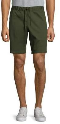 Black & Brown Black Brown Drawstring Stretch Shorts