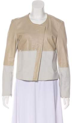 Helmut Lang Leather Accent Causal Jacket