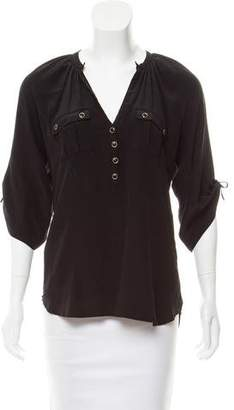 Yumi Kim Silk Three-Quarter Sleeve Top