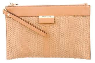 Michael Kors Python Leather Clutch