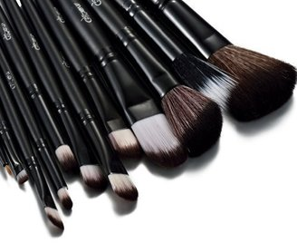 Glow Black 12 Pc Make up Brushes Set with Crocodile Leather Design Case $4.99 thestylecure.com