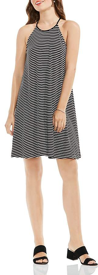 VINCE CAMUTO Stripe Halter Swing Dress