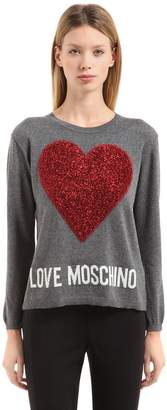 Love Moschino Heart Patch Knit Sweater