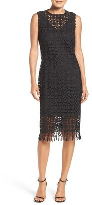 Women's Laundry By Shelli Segal Illusion Lace Midi Dress $195 thestylecure.com