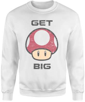 Nintendo Super Mario Get Big Mushroom Sweatshirt - White