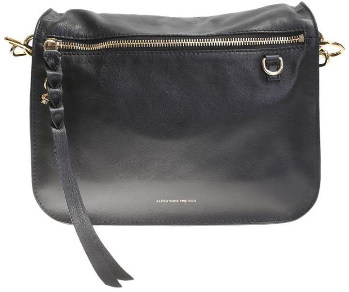 Alexander McQueenBlack Leather Day Skull Bag