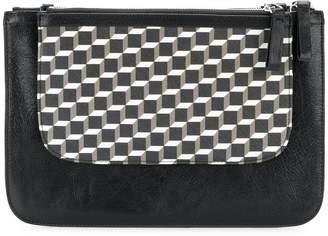Pierre Hardy geometric pattern clutch