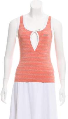 Dolce & Gabbana Striped Sleeveless Top