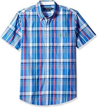 U.S. Polo Assn. Men's Short Sleeve Classic Fit Plaid Shirt