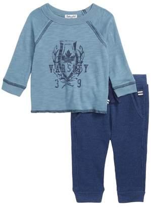 Splendid (スプレンディッド) - Splendid Raglan T-Shirt & Thermal Pants Set