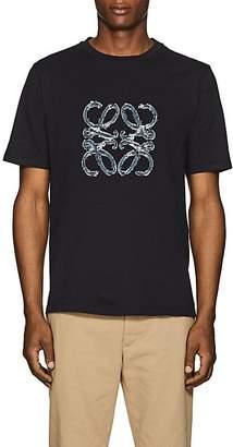 Loewe Men's Denim-Logo Cotton T-Shirt