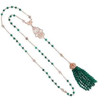 Latelita London - Tassel & Hamsa Necklace Green Onyx