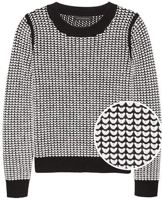 Banana Republic Heart-Stitch Crew-Neck Sweater