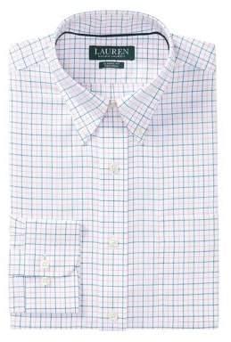 Lauren Ralph Lauren Classic-Fit Grid Cotton Twill Dress Shirt