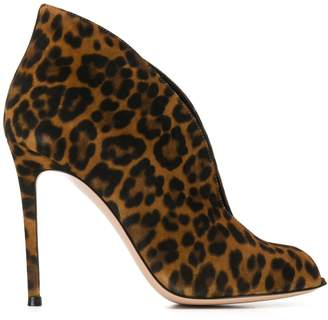 Gianvito Rossi leopard pattern boots