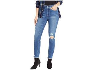 Paige Hoxton Ankle Jeans w/ Heavy Fray Hem in Alessio Destructed