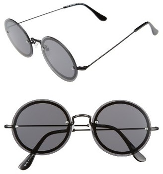 Women's A.j. Morgan 56Mm Rimless Round Sunglasses - Black $24 thestylecure.com