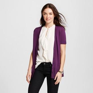 Merona Women's Short Sleeve V-Neck Jersey Cardigan $19.99 thestylecure.com