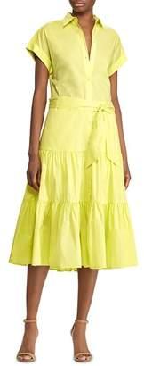 Ralph Lauren Tiered-Skirt Shirt Dress