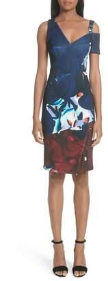 Yigal Azrouel Cold Shoulder Scuba Dress