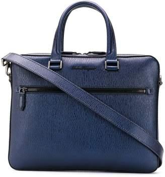 Salvatore Ferragamo textured leather laptop case