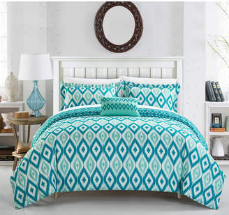 Chic Home Normani 4 Pc King Duvet Cover Set Bedding