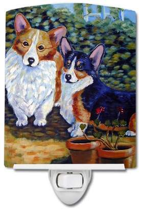 Corgi Caroline's Treasures Cardigan and Pembroke Ceramic Night Light