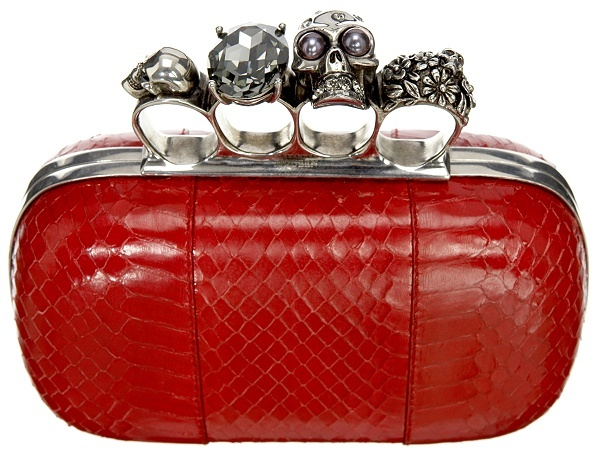 Red Knuckle Duster Clutch