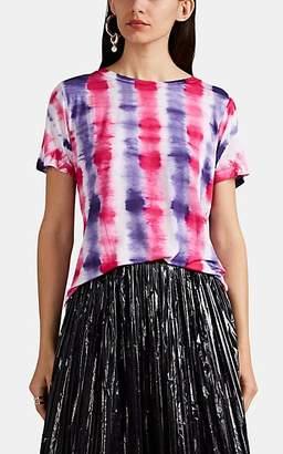 Prabal Gurung Women's Tie-Dyed Stretch-Jersey T-Shirt - Grape, Coral tie dye
