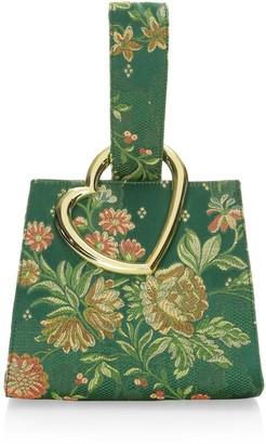 Edie Parker Heart Wristlet Bag