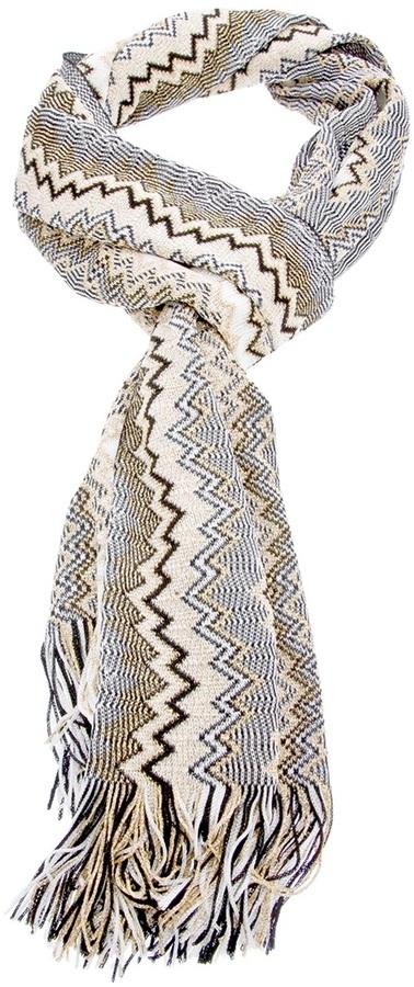 Missoni jazzy weave fringed scarf