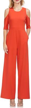 Vince Camuto Cold Shoulder Crepe Jumpsuit