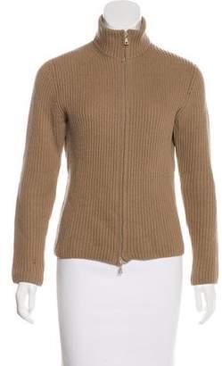 Prada Wool Zip-Up Cardigan