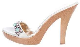 Dolce & Gabbana Embellished Round-Toe Sandals