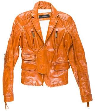 DSQUARED2 Two-Way Leather Jacket