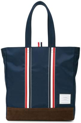 Thom Browne Unstructured Tote In Nylon Tech And Suede