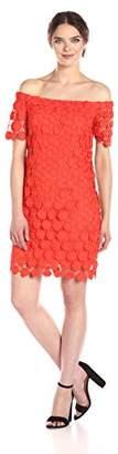 Trina Turk Trina Women's Merengue Off The Shoulder Short Sleeve Dress