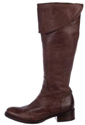 Alberto Fermani Leather Knee-High Boots Brown Leather Knee-High Boots