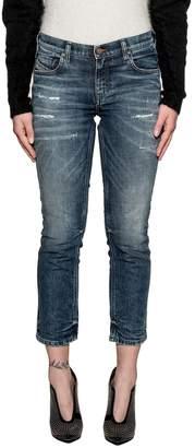 Diesel Dark Blue Belthy-ankle-d Denim Jeans