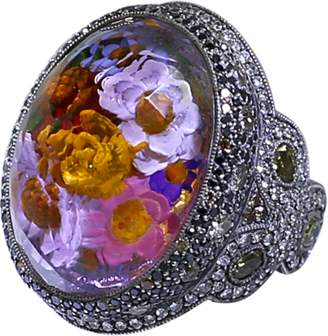 Sevan Biçakci Carved Flower Garden Ring