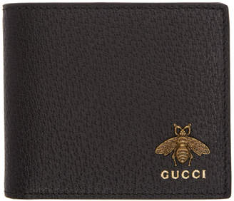 Gucci Black Bee Bifold Wallet
