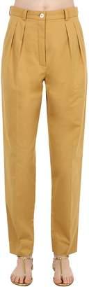 Nina Ricci Cotton Gabardine Trousers