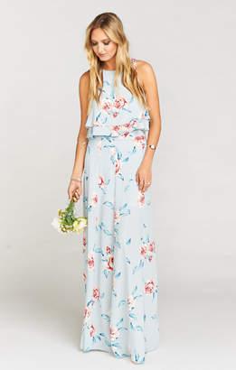 Show Me Your Mumu Princess Ariel Ballgown Maxi Skirt ~ Flower Hour Sky