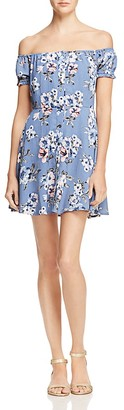 Sadie & Sage Floral Off-The-Shoulder Dress - 100% Exclusive $78 thestylecure.com