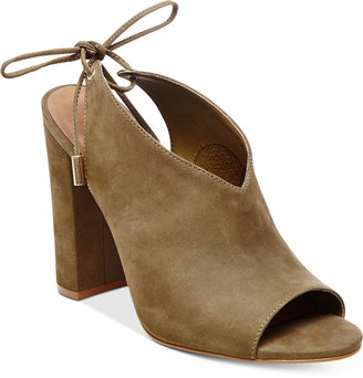 Steve Madden Women's Saffron Peep-Toe Block-Heel Sandals $129 thestylecure.com