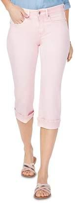 NYDJ Marilyn Cuffed Cropped Jeans in Pink Dusk