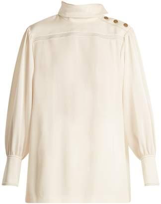 Sonia Rykiel High-neck crepe shirt