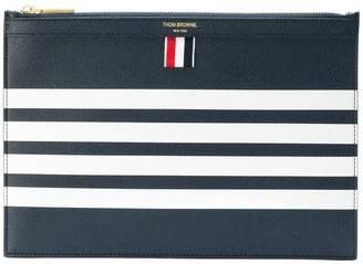 Thom Browne 4-Bar Stripe Leather Tablet Holder